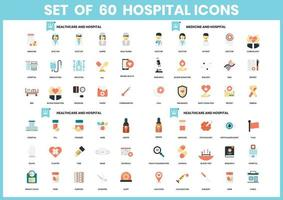 Set of 60 Medicine and Hospital Icons