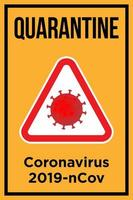 Quarantine Poster for Coronavirus