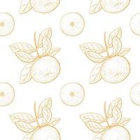 citrus vintage naadloze patroon