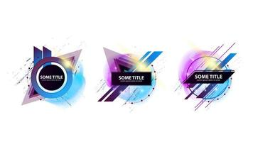 Collection of abstract geometric templates vector