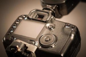 closeup vista da câmera digital