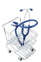 stethoscope and shopping cart photo