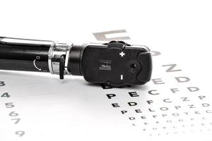 Ophthalmoskop, Augenspiegel, Sehtest