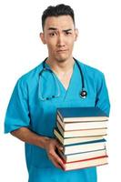 medical student with books photo