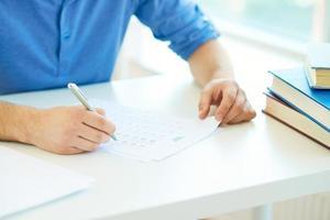 teste de escrita