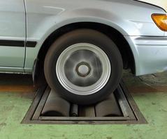 sistema de teste de freio de carro