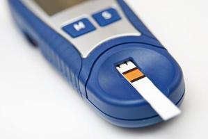 medidor de glucosa en la sangre foto