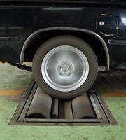 sistema de teste de freio do carro
