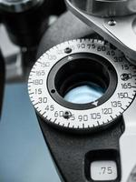 Close Up of Dial on Phoropter in Eye Doctor's Office photo