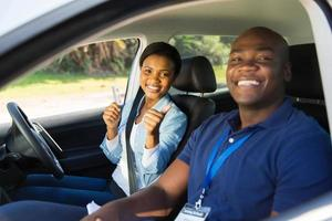 african woman has passed her driving test photo