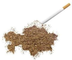 Cigarette and tobacco shaped as Kazakhstan (series) photo