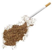 cigarrillo y tabaco con forma de Afganistán (serie)