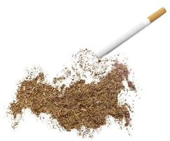 Cigarette and tobacco shaped as Russia (series) photo