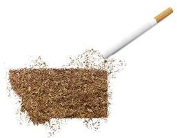 cigarrillo y tabaco con forma de montana (serie) foto