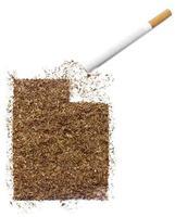 cigarrillo y tabaco con forma de utah (serie) foto