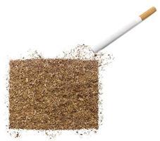 cigarrillo y tabaco con forma de wyoming (serie) foto