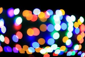 abstract bokeh christmas lights