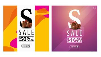 Square discount pop-up windows with presents for website