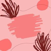 Modern Pink Scribbles Background vector