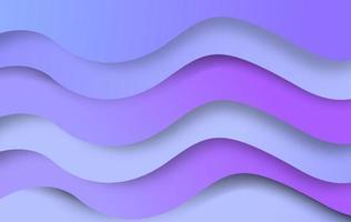 fundo de onda de papel cortado roxo