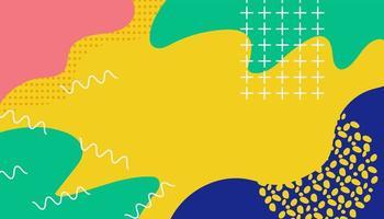 diseño colorido de memphis con formas abstractas
