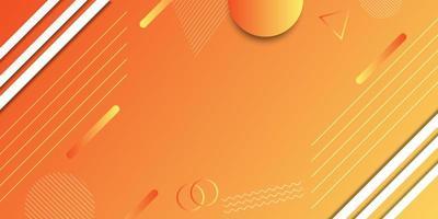 banner geométrico degradado naranja y amarillo