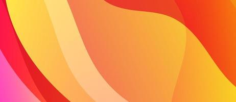 Abstract Red and Yellow Wave Banner vector