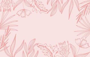 Fondo de marco floral rosa