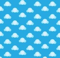 Blue Cloud Seamless Pattern