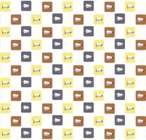 Megaphone Icons Seamless Pattern