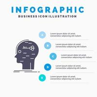 Educational Infographic with Mind Logo Design