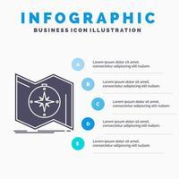 Infografik der blauen und weißen Geschäftsnavigation