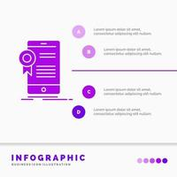Purple and White Business App Infographic