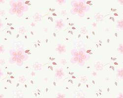 Pink Flowers with Pink Leaves Pattern