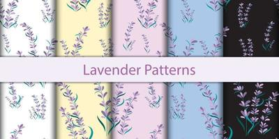 Seamless Floral Lavender Patterns