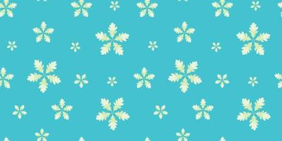 Blue Pattern with White Leaf Flowers
