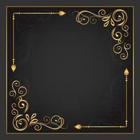 Vintage Gold Flourish in Two Corners Frame