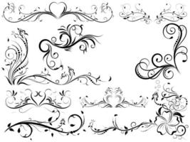 Set of Vintage Flourishes in Black