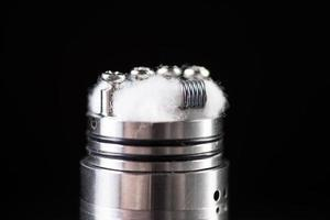 close up of vaping coil