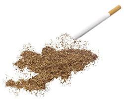 cigarrillo y tabaco con forma de Kirguistán (serie) foto