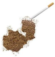 cigarrillo y tabaco con forma de zambia (serie) foto