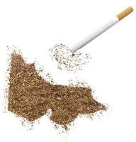cigarrillo y tabaco con forma de victoria (serie) foto