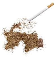 cigarrillo y tabaco con forma de Tayikistán (serie) foto