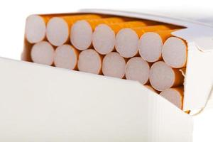 packet of cigarettes in close-up