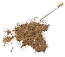 Cigarette and tobacco shaped as Estonia (series)