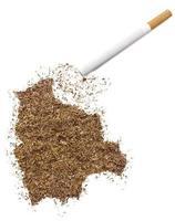 cigarrillo y tabaco con forma de bolivia (serie) foto