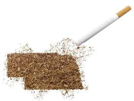 Cigarette and tobacco shaped as Nebraska (series)