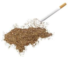 Cigarette and tobacco shaped as Honduras (series)