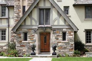 Tudor style house entrance