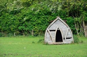 cabaña de cerdo de madera